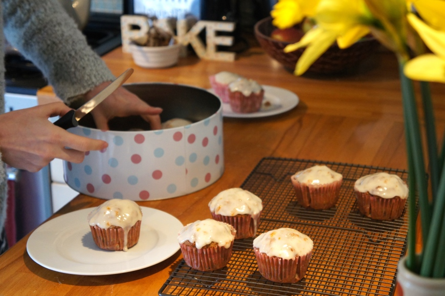 Earl Grey Cupcakes with Orange Marmalade Icing