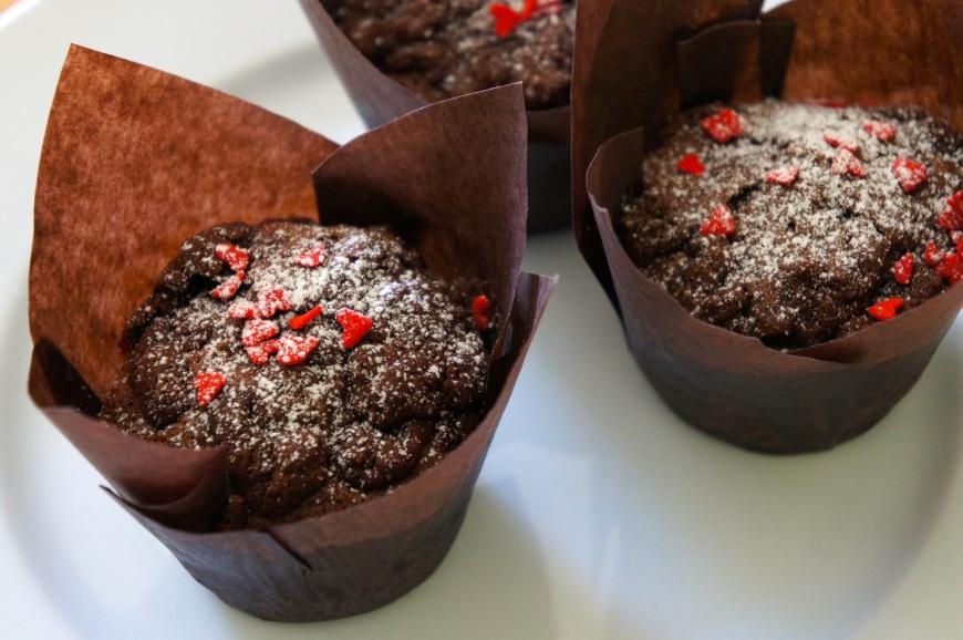 Baking Better chocolate raspberry crumble muffins