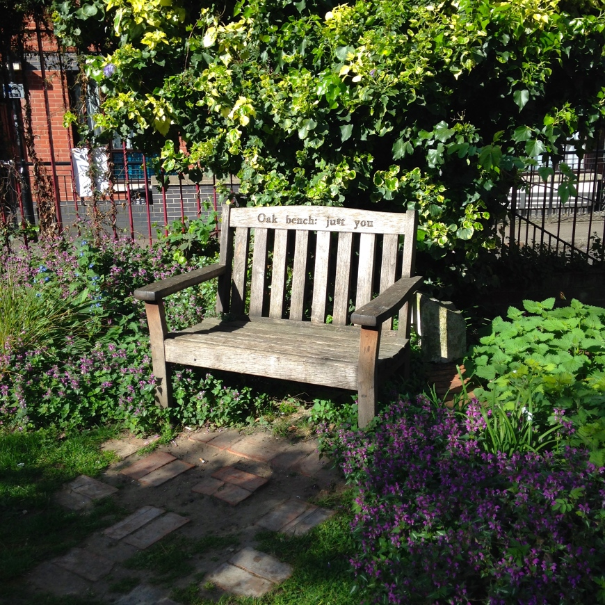 phoenix gardens soho bench