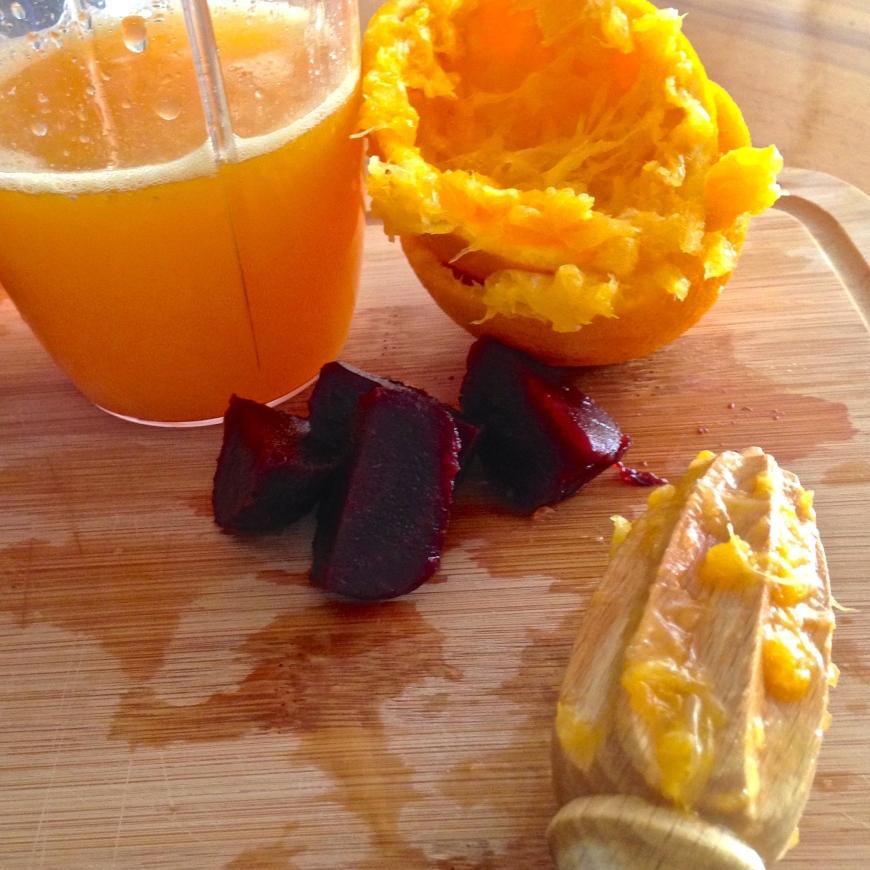 Red Navel Orange & Beetroot juice